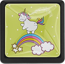 Kitchen Cabinet Knobs - Unicorn with Green
