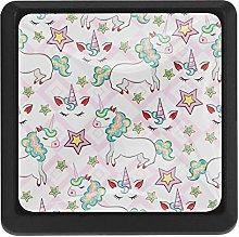 Kitchen Cabinet Knobs - Unicorns Rainbow Pink