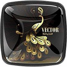 Kitchen Cabinet Knobs - Vector Orange Peacock -