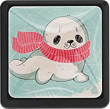 Kitchen Cabinet Knobs - with Cute sea Lion cub -