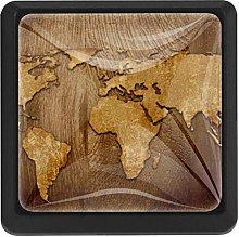 Kitchen Cabinet Knobs - World map Antique Artwork