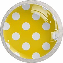 Kitchen Cabinet Knobs - Yellow Dots Cute - Knobs