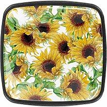 Kitchen Cabinet Knobs - Yellow Flower (5) - Knobs