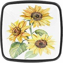 Kitchen Cabinet Knobs - Yellow flowerSpring Art -