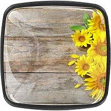 Kitchen Cabinet Knobs - Yellow flowerVintage