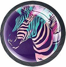 Kitchen Cabinet Knobs - Zebra Animal - Knobs for