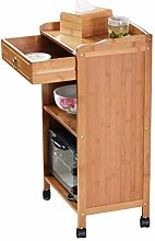 Kitchen Cart Serving Trolleys with Island Wheels 3
