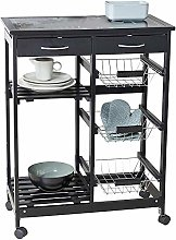 Kitchen cart, Steel Floor Storage cart with Steel
