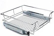 Kitchen Chromed Metal Sliding Cabinet, Kitchen