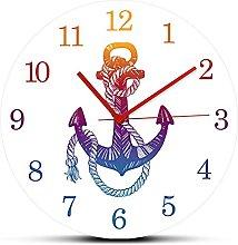 Kitchen clock Vintage Anchor Sea Minimalist Quartz
