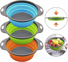 Kitchen Collapsible Colander, Space Saver Folding