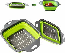 Kitchen Collapsible Silicone Drain Basket,