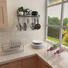 Kitchen Cookware Organiser Rack Wall Mounted