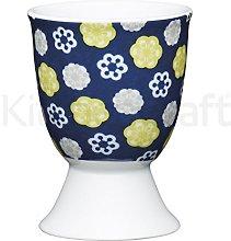 Kitchen Craft Egg Cup Floral Design of Porcelain