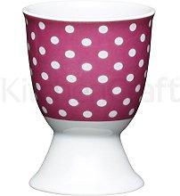Kitchen Craft Egg Cup Pink Polka Dot Design of