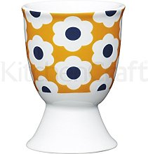 Kitchen Craft Egg Cup Retro Flower Spot Design of