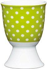 Kitchen Craft Green Polka Dot Design Egg Cup,