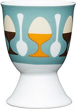 Kitchen Craft Retro Design Egg Cup, Porcelain,