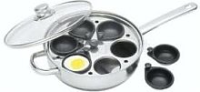 Kitchen Craft - Stainless Steel 28 Cm Six Hole Egg