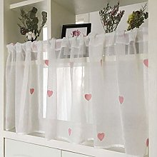 Kitchen Curtain White Cafe Curtains Pink
