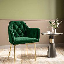 Kitchen Dining Chair Living Room Velvet Armchair