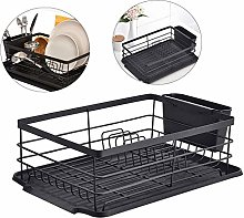 Kitchen Dish Drainer with Drip Tray Plate Drying