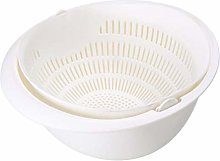 Kitchen Drain Basket Bowl Rice Washing Colander