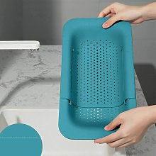 Kitchen Drain Basket, Sink Drying Rack for Storage