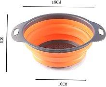 Kitchen Drain Basket Telescopic Folding Water