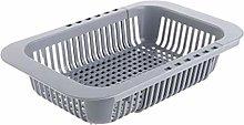 Kitchen Drainer Multi-purpose Drain Basket, ABS