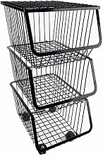 Kitchen Fruit Produce Rack, Metal Wire Basket