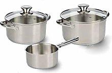 KITCHEN FUN 30003669 Cookware Set, Stainless Steel