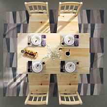 Kitchen Furniture Wooden Dinning Table and 4