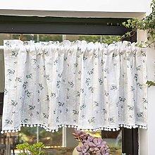 Kitchen Half Curtain Valance,Tiers Curtain Print