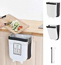 Kitchen Hanging Trash Can Foldable Trash Bin 9 L /