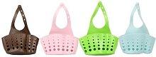 Kitchen Holder: Dual Basket/Pink/One