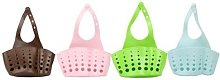 Kitchen Holder: Dual Basket/Pink/Two