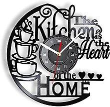 Kitchen Home Warm Inspiration Vinyl Record Clock