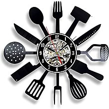 Kitchen Knife And Fork Kitchen Wall Clock Vinyl
