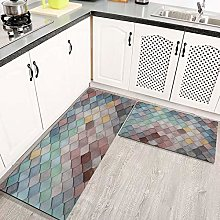 Kitchen Mats Rug Set, Beautiful Colorful Art Neat
