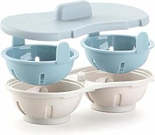 Kitchen Microwave Egg Poacher Cookware Double Cup