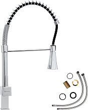 Kitchen mixer tap with LED lighting & detachable