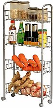 Kitchen Mobile Trolley Cart Storage 4 Tier