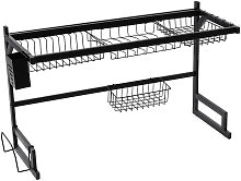 Kitchen Over The Sink Dish Drainer Drying Rack