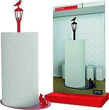Kitchen Paper Towel Holder Cat Vs. Crow - Red