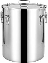 Kitchen Rice Storage Canister 304 Stainless Steel