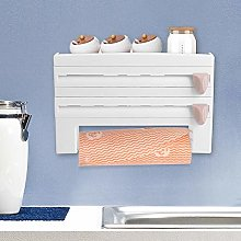 Kitchen Roll Dispenser, Wall Roll Holder for 3
