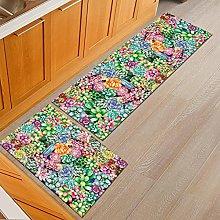 Kitchen Rug Set - 2 Pieces Kitchen Carpet And