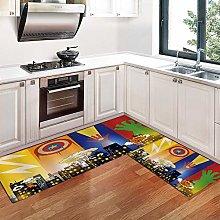 Kitchen Rugs,Non-Slip Soft Super Absorbent Shag