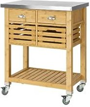 Kitchen Serving Trolley Cart Storage Cabinet with